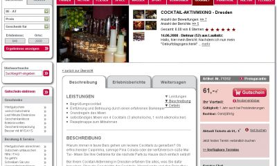 Cocktailkurs Aktivmixing Dresden