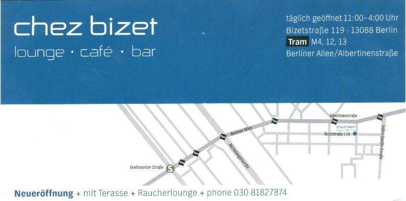 Flyer Chez Bizet Bar unten