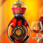 Vecchia Romagna Flasche und Glas
